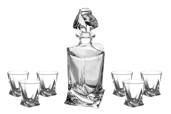 Zestawy Szkła Zestaw Do Likieru 61 Bohemia Quadro Crystalite